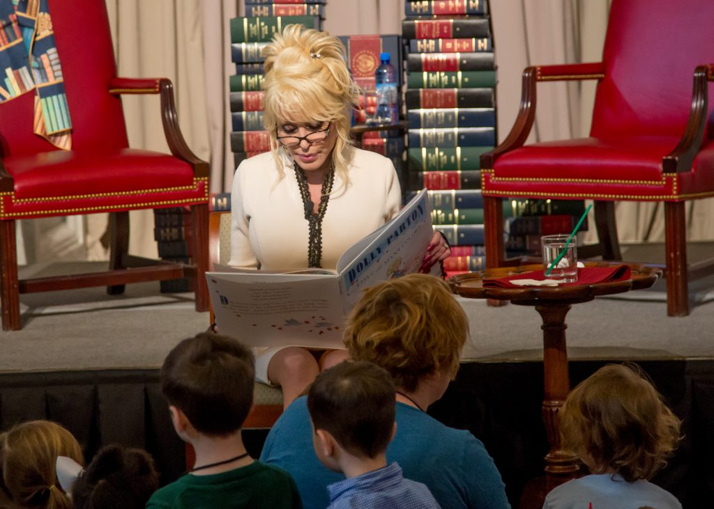 Dolly Parton at Library of Congress Reading to Children